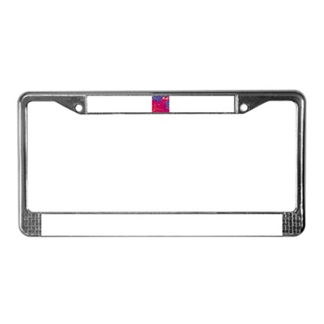 HEARTS {36} : pink/blue License Plate Frame