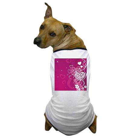 HEARTS {37} Dog T-Shirt