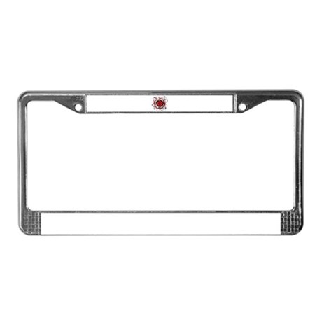RED ROSE {6} License Plate Frame