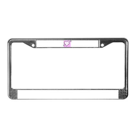 HEART & ARROW {20} License Plate Frame