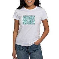 Cat in Tall Grass women's t-shirt