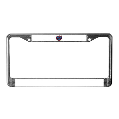 HEART & ROSES License Plate Frame