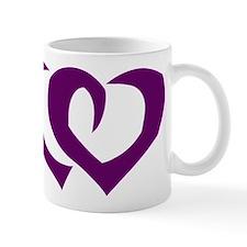 HEARTS {39} : purple Mug