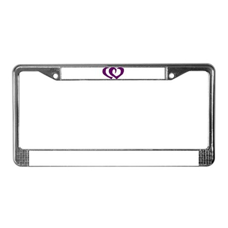 HEARTS {39} : purple License Plate Frame
