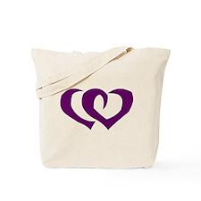 HEARTS {39} : purple Tote Bag