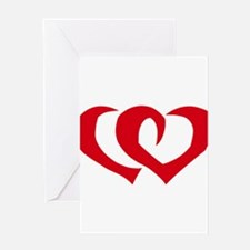 HEARTS {39} : red Greeting Card