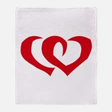 HEARTS {39} : red Throw Blanket