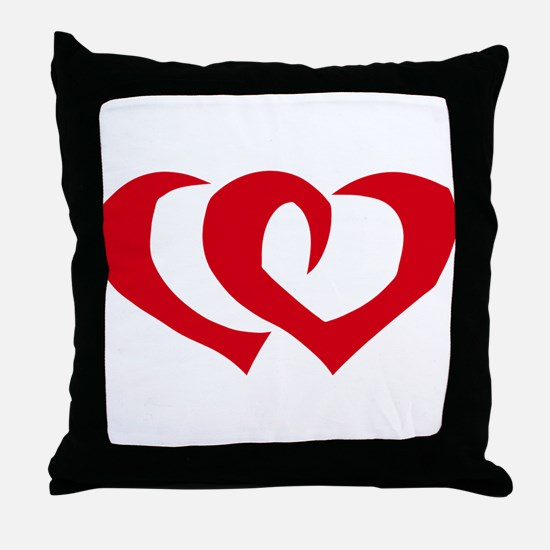 HEARTS {39} : red Throw Pillow