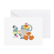 Baby Quackups 3 Greeting Cards (Pk of 10)