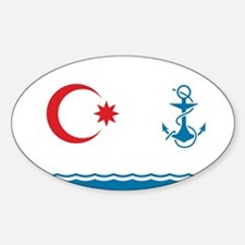 Azerbaijan Naval Ensign Sticker (Oval)