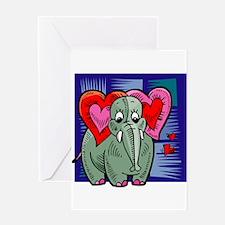 VALENTINE ELEPHANT Greeting Card