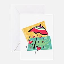 RAINING HEARTS Greeting Card