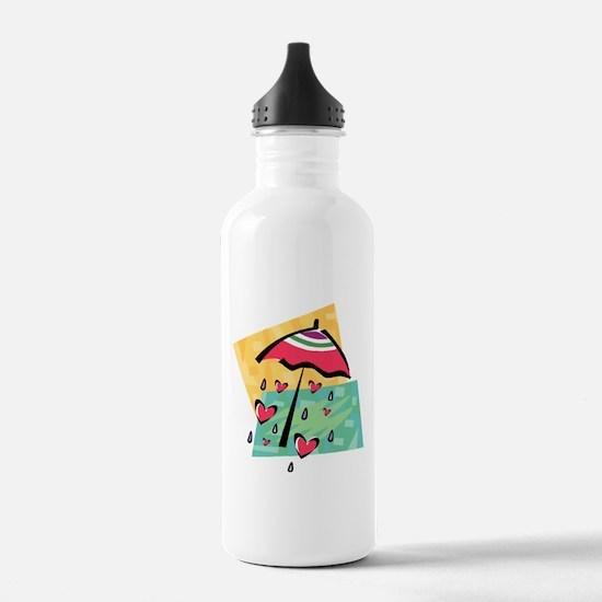 RAINING HEARTS Water Bottle