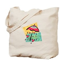RAINING HEARTS Tote Bag