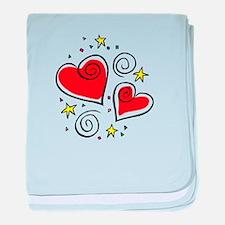 HEARTS & STARS baby blanket