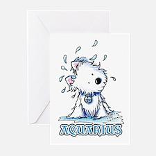 Aquarius Westie Greeting Cards (Pk of 20)