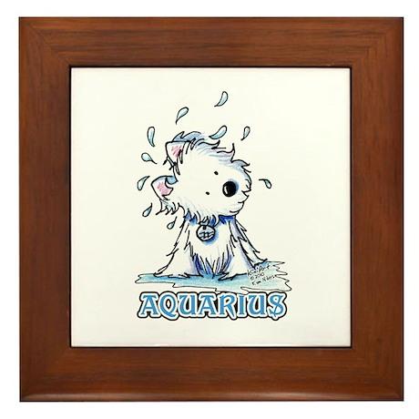 Aquarius Westie Framed Tile