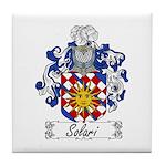 Solari Family Crest Tile Coaster