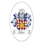 Solari Family Crest Oval Sticker