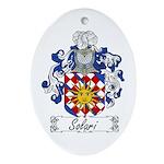 Solari Family Crest Oval Ornament
