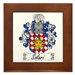 Solari Family Crest Framed Tile