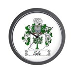 Sola Coat of Arms Wall Clock