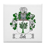Sola Coat of Arms Tile Coaster