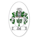 Sola Coat of Arms Oval Sticker