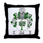 Sola Coat of Arms Throw Pillow