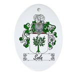 Sola Coat of Arms Oval Ornament