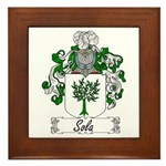 Sola Coat of Arms Framed Tile