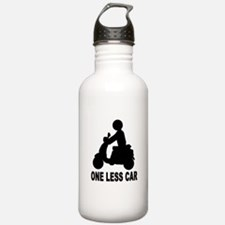 ONE LESS CAR motor scooter Water Bottle