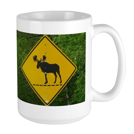 Moose Sign Large Mug