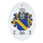 Sofia Famly Crest Oval Ornament