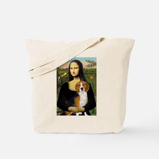 Mona and her Beagle Tote Bag