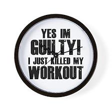 Killed My Workout Wall Clock
