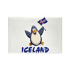 Iceland Penguin Rectangle Magnet