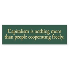 Capitalist Cooperation Car Sticker