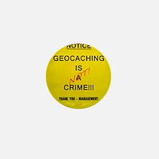 Cache Crime Mini Button (10 pack)