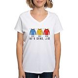 He\'s dead jim Womens V-Neck T-shirts
