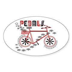 Pedals Cyclist Sticker (Oval 50 pk)
