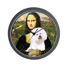 Mona and her Bichon Wall Clock