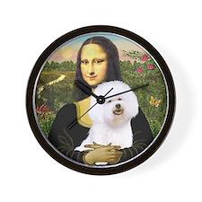 Mona and her Bichon Wall Clock