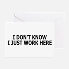 I just work here Greeting Cards (Pk of 10)