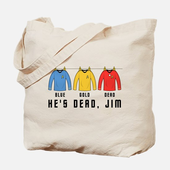 Trek Laundry He's Dead Jim Tote Bag