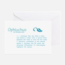 Ophiuchus Definition Greeting Card