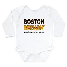 Boston Brewin' Long Sleeve Infant Bodysuit
