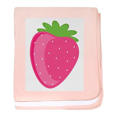 Strawberry baby blanket