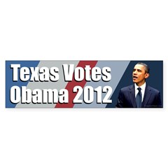 Texas Votes Obama 2012 bumper sticker