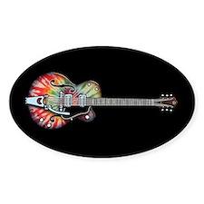 Tie Dye Guitar Decal